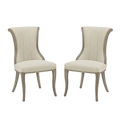 Linon Sheffield Flared Back Accent Chair 2 pc Set