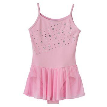 Girls 4-14 Jacques Moret Pink Cami Skirtall Leotard
