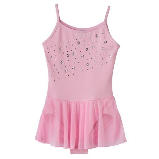 Girls 4-14 Jacques Moret Pink Cami Skirtall Leotard