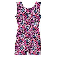Girls 4-14 Jacques Moret Garden of Flowers Biketard Leotard