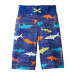Boys 4-7 Free Country Shark Frenzy Swim Trunks