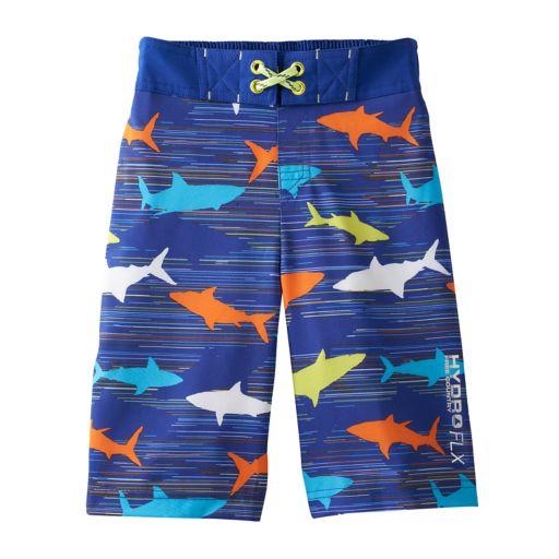 Boys 4-7 Free Country Shark Frenzy Swim Trunks