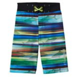 Boys 4-7 Free Country Stripe Shark Print Swim Trunks