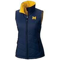 Women's Columbia Michigan Wolverines Reversible Powder Puff Vest