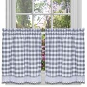Achim 2-pack Buffalo Check Tier Curtain
