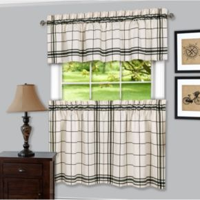 Achim Bainbridge Tier & Valance Kitchen Window Curtain Set