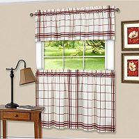 Achim Bainbridge Tier & Valance Kitchen Window Curtain Set