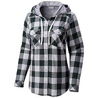 Women's Columbia Michigan State Spartans Times Two Hooded Button-Down Shirt