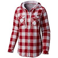Women's Columbia Alabama Crimson Tide Times Two Hooded Button-Down Shirt