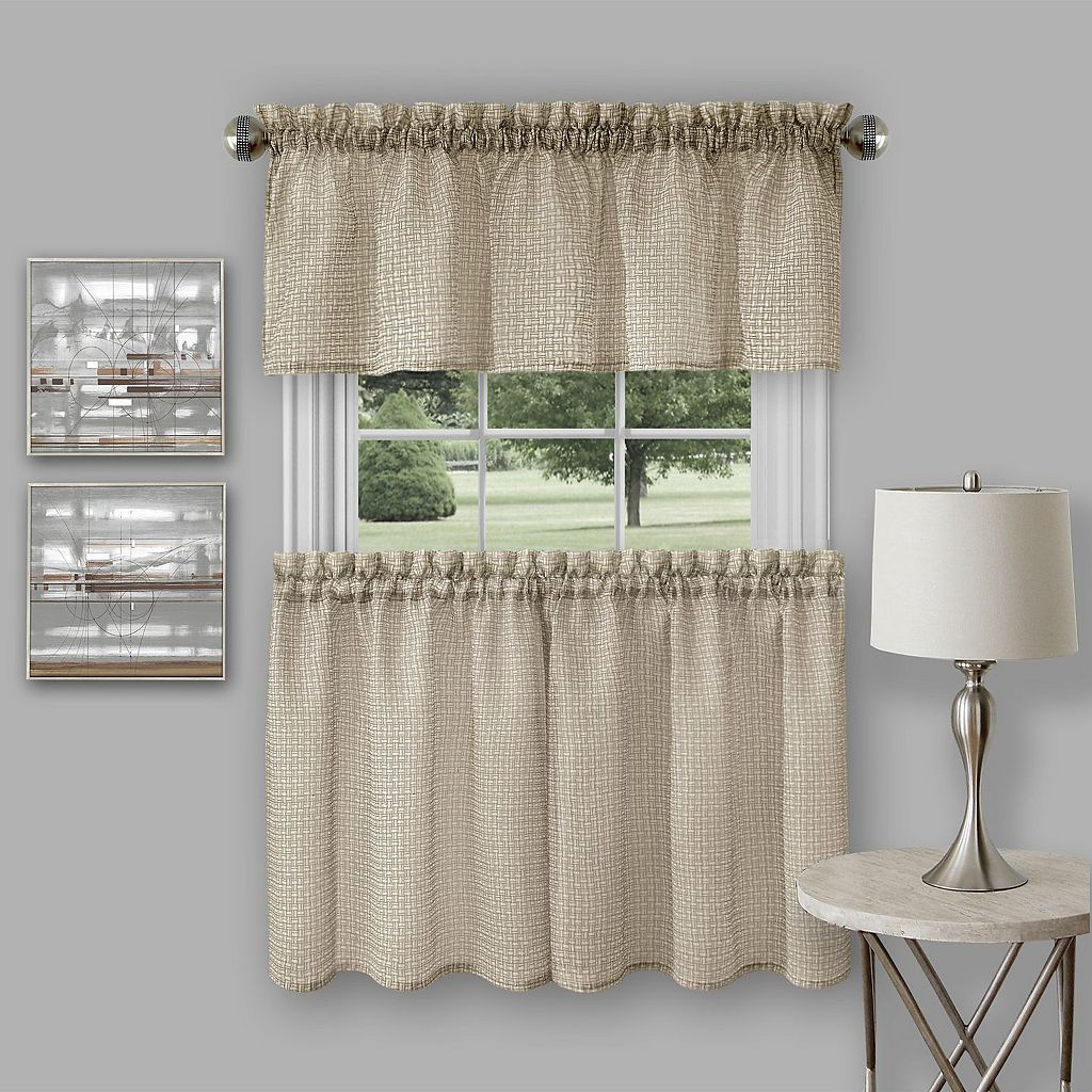 Achim Richmond Light Filtering Tier & Valance Set