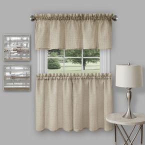 Achim Richmond Tier & Valance Kitchen Window Curtain Set