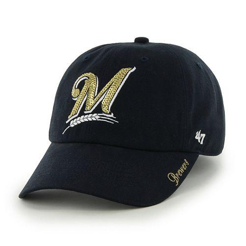 dcb6f97eccd Women s  47 Brand Milwaukee Brewers Sparkle Adjustable Cap