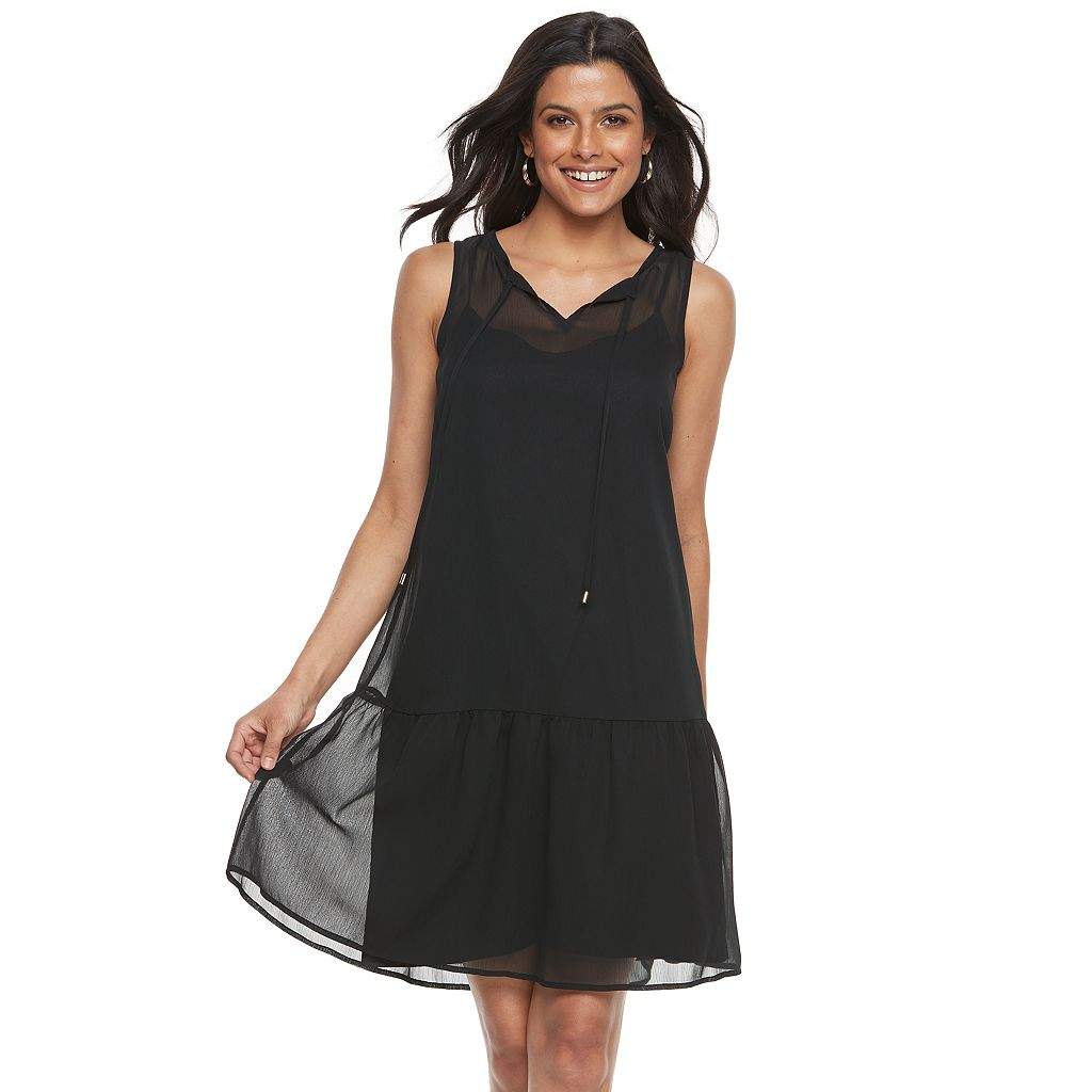 Women's Apt. 9® Chiffon Drop Waist Dress