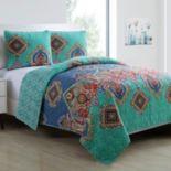 VCNY 3 pc Global Bazaar Quilt Set