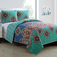 VCNY 3-piece Global Bazaar Quilt Set
