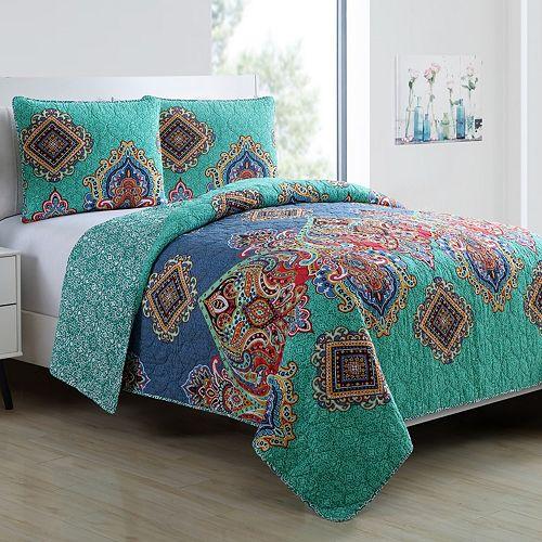 VCNY 3-piece Global Bazaar Quilt Set