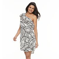 Women's Apt. 9® Ruffle One-Shoulder Shift Dress