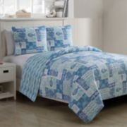 VCNY 3-piece Patchwork Sealife Quilt Set