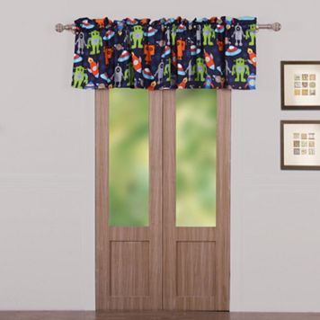 Robots In Space Window Valance