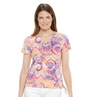 Women's Caribbean Joe Side Rouche Top