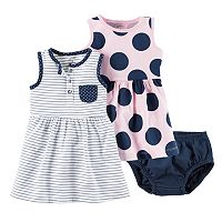 Baby Girl Carter's Henley Dress & Polka-Dot Dress Set