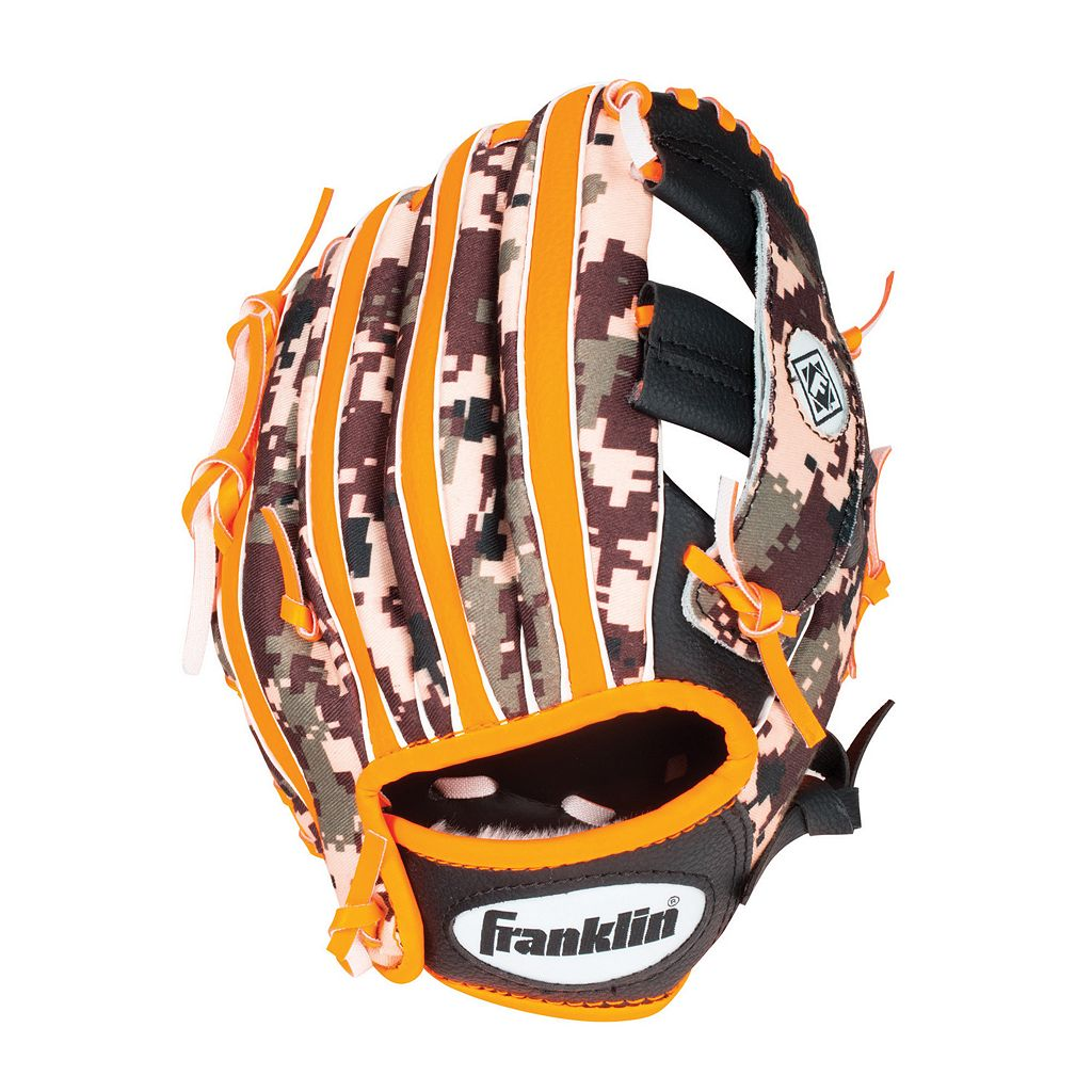 Youth Franklin Sports Digitek Digital Camo 10-Inch Black & Orange Right Hand Teeball Glove
