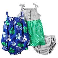 Baby Girl Carter's Henley Dress & Floral Sunsuit Set
