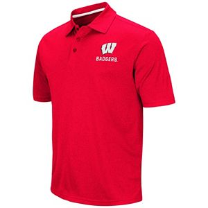 Men's Campus Heritage Wisconsin Badgers Heathered Polo