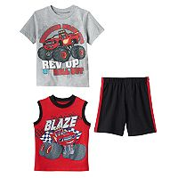 Boys 4-7 Blaze and the Monster Machines Tee, Tank Top & Shorts Set