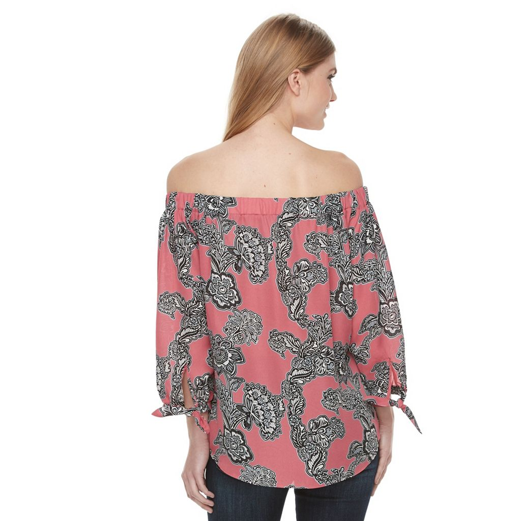 Women's Harve Benard Off Shoulder Printed Top