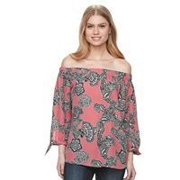 Women's Harve Benard Off Shoulder Printed Top