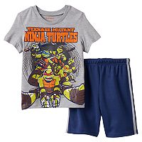 Boys 4-7 Teenage Mutant Ninja Turtles Graphic Tee & Shorts Set