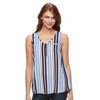 Women's Harve Benard Zipper Georgette Tank