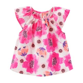 Toddler Girl OshKosh B'gosh® Plaid Cap Sleeve Blouse Top