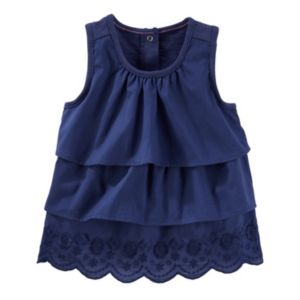 Toddler Girl OshKosh B'gosh® Tiered Ruffle Woven Top