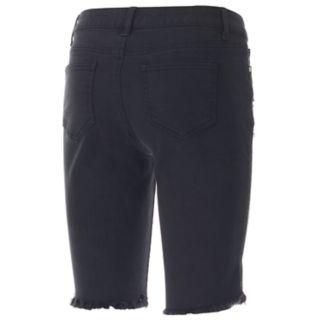 Juniors' Candie's® Ripped Denim Bermuda Shorts