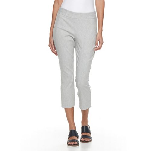 Petite Napa Valley Pull On Slim Leg Capri