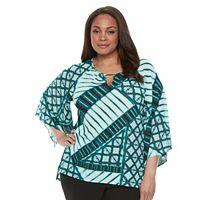 Plus Size Dana Buchman Printed Kimono Top