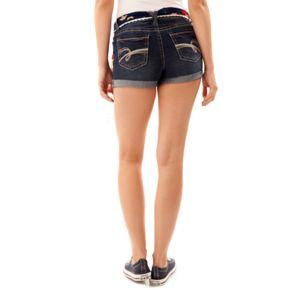 Juniors' Wallflower Americana Rolled Jean Shorts
