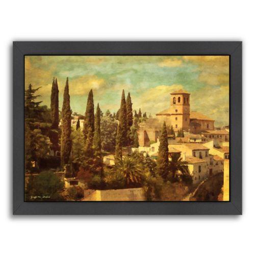 Americanflat Granada Aqua Vista Framed Wall Art
