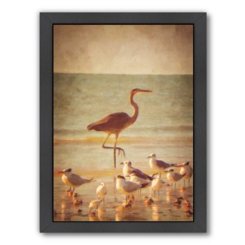 Americanflat Great Heron Framed Wall Art