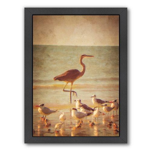 Americanflat Great Heron Framed Wall Art