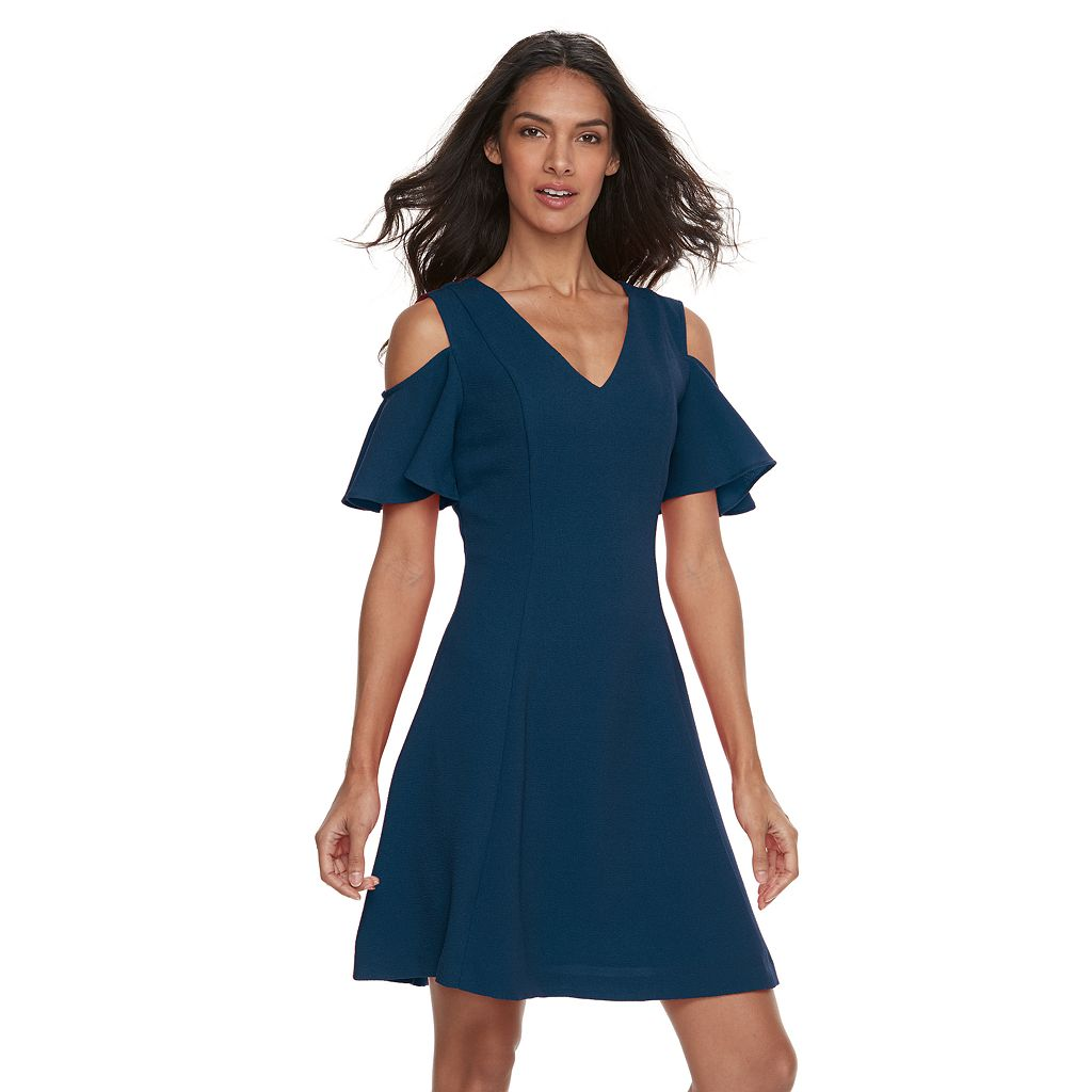 Women's Sharagano Textured Fit & Flare Dress