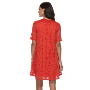 Women's Sharagano Lace Trapeze Dress