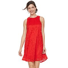 Women's Sharagano Keyhole Lace Shift Dress