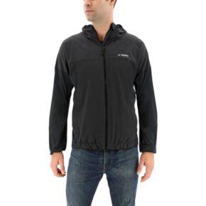 Men's adidas Voyager Stretch Hooded Windbreaker Jacket