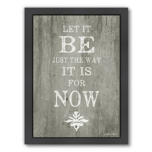 "Americanflat ""Let It Be"" Framed Wall Art"