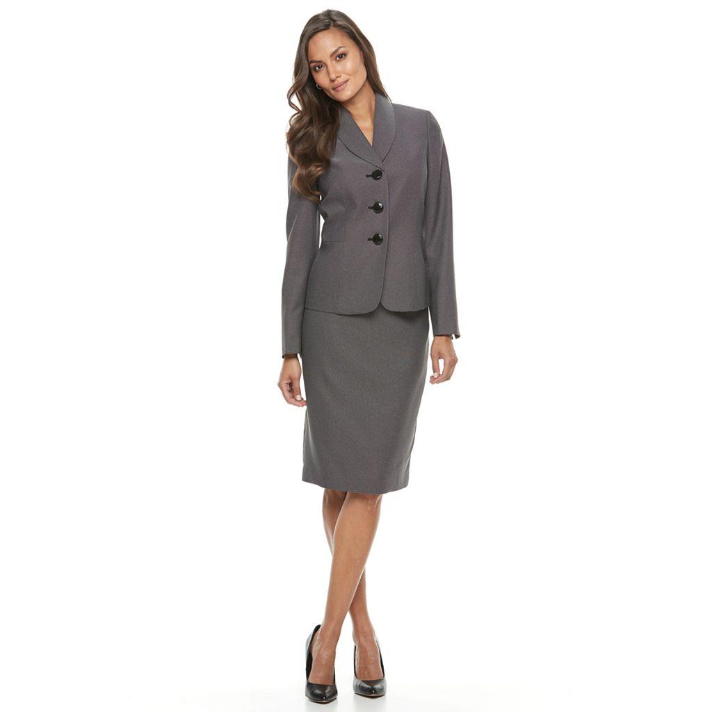 Women's Le Suit Pindot Suit Jacket & Pencil Skirt Set