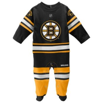 Baby Reebok Boston Bruins Footed Bodysuit