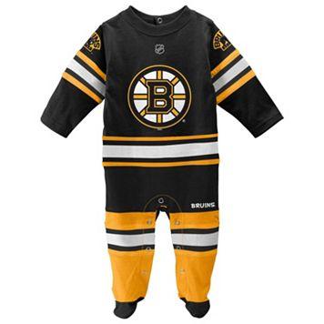 Baby Reebok Boston Bruins Footed Bodysuit